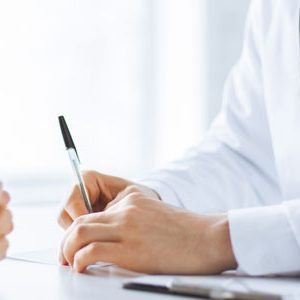 Gespräch zwischen Arzt und Patient