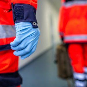 Rettungshelfer im Einsatz