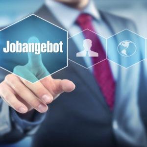 Mann drückt auf Icon Jobangebot