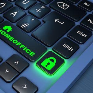 Tastatur mit Aufschrift Homeoffice
