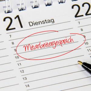 Kalendereintrag Mitarbeitergespräch