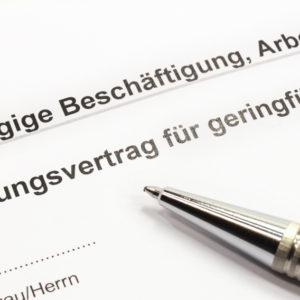 Arbeitsvertrag geringfügige Beschäftigung