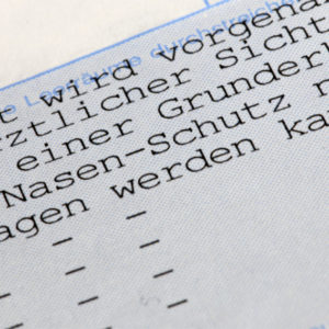 Text einer FFP-2-Maskenbefreiung