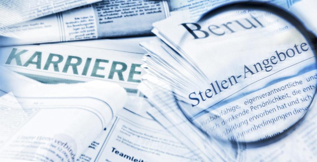 Übersicht über den Stellenmarkt verschiedener Zeitungen