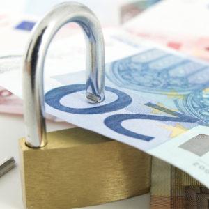 20-Euro-Schein in einem Schloss