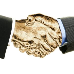 Goldener Handschlag