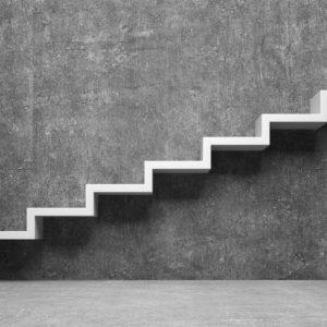 Pfeil nach oben als Treppe